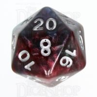 TDSO Marbleised Red Green & Blue D20 Dice