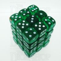 D&G Gem Green 36 x D6 Dice Set