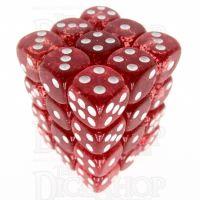 TDSO Glitter Red 36 x D6 Dice Set