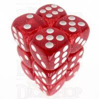 TDSO Glitter Red 12 x D6 Dice Set