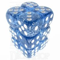 TDSO Glitter Blue 12 x D6 Dice Set