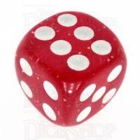 TDSO Glitter Red 16mm D6 Spot Dice
