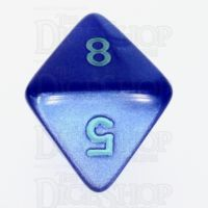 Würfelzeit Silkki Satin Blue & Turquoise D8 Dice