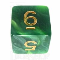 TDSO Duel Dark Green & Pearl Light Green D6 Dice
