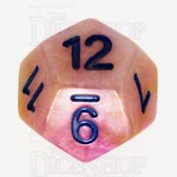 TDSO Marbleised White Orange & Purple D12 Dice