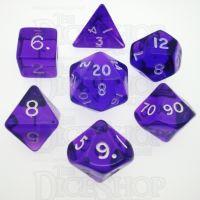 D&G Gem Purple 7 Dice Polyset