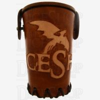 QD TheDiceShopOnline Tan Leather Dice Cup