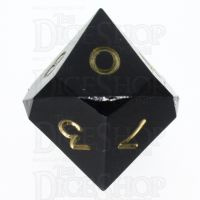 GameScience Opaque Coal Black & Gold Ink D10 Dice
