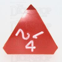 GameScience Opaque Orange & White Ink D4 Dice