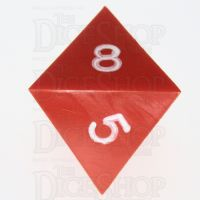 GameScience Opaque Orange & White Ink D8 Dice