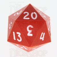GameScience Opaque Orange & White Ink D20 Dice