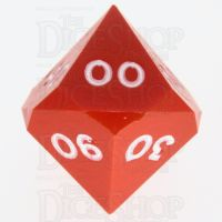 GameScience Opaque Orange & White Ink Percentile Dice