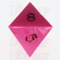 GameScience Opaque Pink & Black Ink D8 Dice