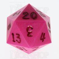 GameScience Opaque Pink & Black Ink D20 Dice
