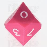 GameScience Opaque Pink & White Ink D10 Dice