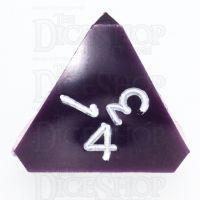 GameScience Opaque Purple & White Ink D4 Dice