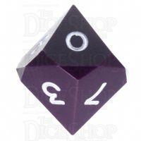 GameScience Opaque Purple & White Ink D10 Dice