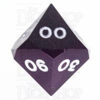 GameScience Opaque Purple & White Ink Percentile Dice