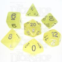TDSO Translucent Glitter Yellow 7 Dice Polyset