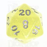 TDSO Translucent Glitter Yellow D20 Dice