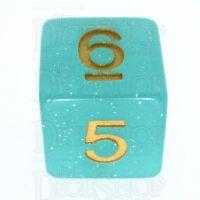 TDSO Translucent Glitter Teal D6 Dice