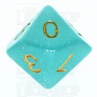 TDSO Translucent Glitter Teal D10 Dice