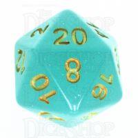 TDSO Translucent Glitter Teal D20 Dice