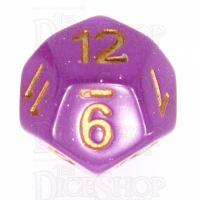 TDSO Translucent Glitter Purple D12 Dice