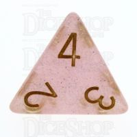 TDSO Translucent Glitter Pink D4 Dice