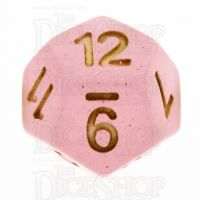 TDSO Translucent Glitter Pink D12 Dice