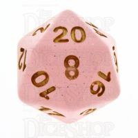 TDSO Translucent Glitter Pink D20 Dice