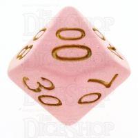 TDSO Translucent Glitter Pink Percentile Dice