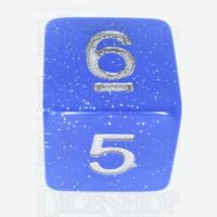 TDSO Translucent Glitter Blue D6 Dice