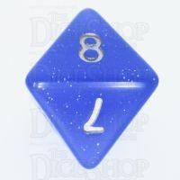 TDSO Translucent Glitter Blue D8 Dice