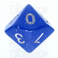 TDSO Translucent Glitter Blue D10 Dice