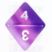 TDSO Layer Transparent Purple D8 Dice