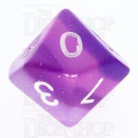 TDSO Layer Transparent Purple D10 Dice