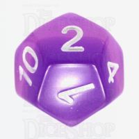 TDSO Layer Transparent Purple D12 Dice