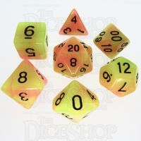 TDSO Duel Yellow & Orange Glow in the Dark 7 Dice Polyset
