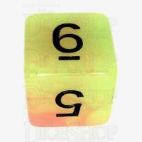 TDSO Duel Yellow & Orange Glow in the Dark D6 Dice