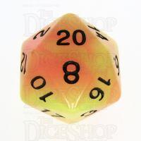 TDSO Duel Yellow & Orange Glow in the Dark D20 Dice