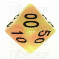 TDSO Duel Yellow & Orange Glow in the Dark Percentile Dice