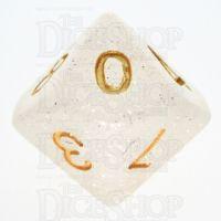 TDSO Galaxy Glitter Mist White D10 Dice