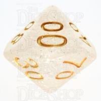 TDSO Galaxy Glitter Mist White Percentile Dice