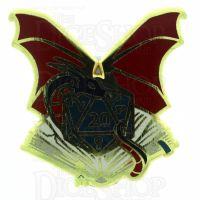 D20 Hard Enamel Pin Badge : Dungeon Master