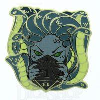 D20 Hard Enamel Pin Badge : Medusa's Wrath