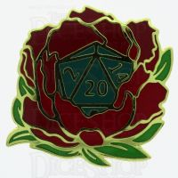 D20 Hard Enamel Pin Badge : Wild Roller A