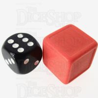 D&G Opaque Blank Orange Indented 19mm D6 Dice - For Stickers