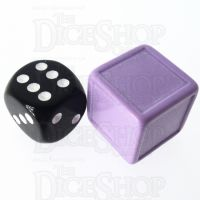 D&G Opaque Blank Lavender Indented 19mm D6 Dice - For Stickers