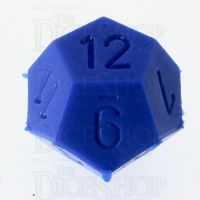 CLEARANCE D&G Opaque Blue D12 Dice - Unfinished Example Dice